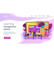 smart spaces concept landing page vector image vector image