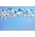 snow on light blue background vector image vector image