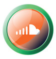 soundcloud sign with green frame icon on a white vector image vector image