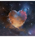 Space heart vector image