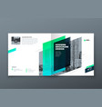 square brochure design teal corporate business vector image vector image