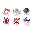 steak house labels collection meat store premium vector image vector image