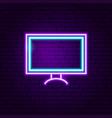 television neon label vector image