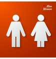 toilet label vector image