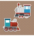 travel by train concept icon vector image