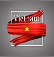 vietnam flagofficial national vietnams vector image