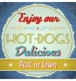 Vintage Hot Dogs Sign