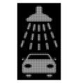 white halftone car shower icon vector image