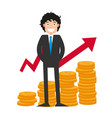 goal achievement can bring you a lot of money vector image