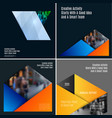 abstract material design style of elements vector image vector image