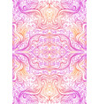 abstract psychedelic fractal pattern pink orange vector image vector image