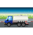 An oil tanker at the road vector image