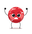 angry red earth character cartoon mascot globe vector image vector image