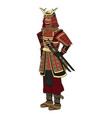 animation samurai man to ancient clothes wearing vector image vector image