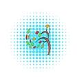 Autumn tree icon pop-art style vector image