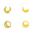 bananan fruits template logo vector image vector image