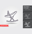 barocking chair line icon with editable stroke vector image vector image
