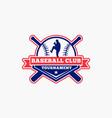 baseball logo badge-4 vector image vector image