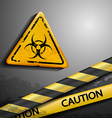 biohazard symbol and warning tape vector image vector image