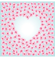 Blossom heart vector image