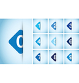 blue option square background vector image vector image