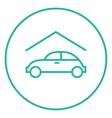 Car garage line icon vector image vector image