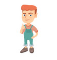 caucasian little boy giving thumb up vector image