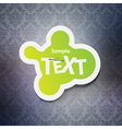 Chat bubble label vector image vector image