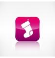 Christmas socks icon Application button vector image