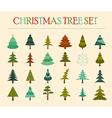 Christmas tree icon set Flat design vector image vector image