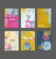 collection of spring cards vector image vector image