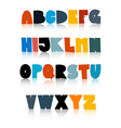 Colorful Funny Alphabet Set Isolated on White vector image vector image