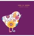 colorful oriental flowers chicken vector image vector image