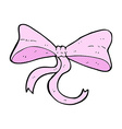 comic cartoon bow vector image vector image