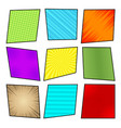 comic colorful frames collection vector image