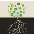Communication a tree vector image