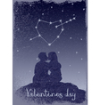 Couple in love under the stars vector image
