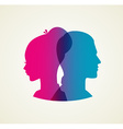 Couples silhouette vector image vector image