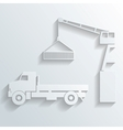 crane loading onto truck vector image