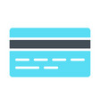credit card silhouette icon simple pictogram vector image vector image