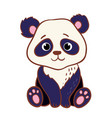 cute panda sitting on a white background vector image vector image