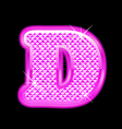 D letter pink bling girly vector image vector image