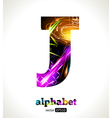 Design Abstract Letter J vector image