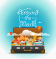 Dirrefent world famous sights travel Aroun vector image vector image