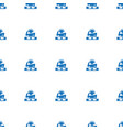 dj icon pattern seamless white background vector image vector image