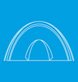 dome tent icon outline style vector image vector image