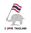 Elephant hold Thai flag1 vector image vector image