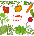 farmers healthy fresh foods vector image vector image