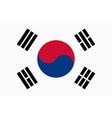 Flag of Republic of Korea vector image vector image