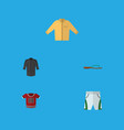 flat icon garment set of trunks cloth t-shirt vector image